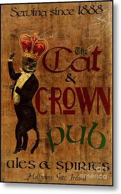 Cat And Crown Pub Metal Print by Cinema Photography