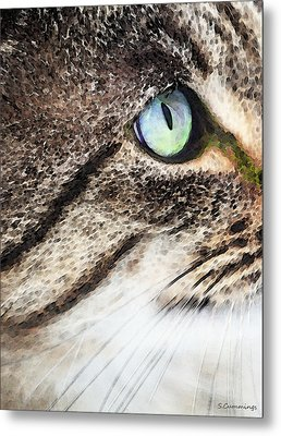 Cat Art - Looking For You Metal Print by Sharon Cummings
