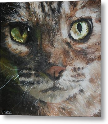 CaT Metal Print by Cherise Foster