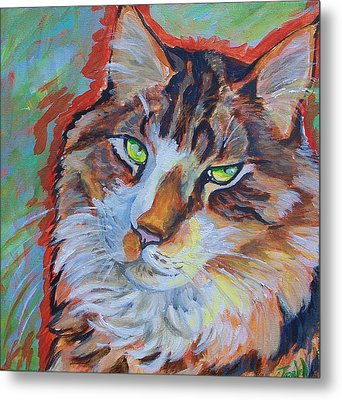 Cat Commission Metal Print by Jenn Cunningham