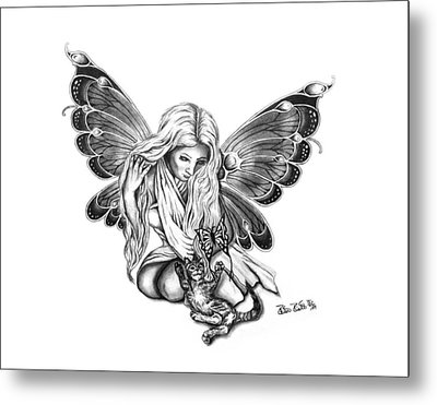Cat Fairy  Metal Print