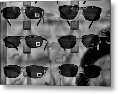Metal Print featuring the photograph Cat Glasses And Izod by Bob Wall