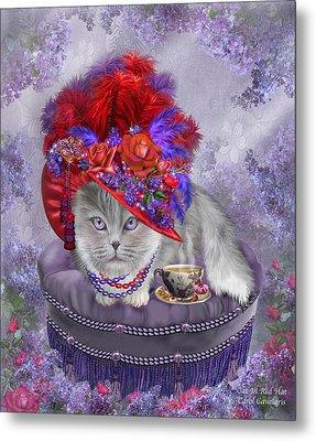 Cat In The Red Hat Metal Print by Carol Cavalaris