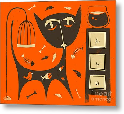 CAT Metal Print by Jazzberry Blue