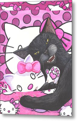 Cat Nap Metal Print by Catherine G McElroy
