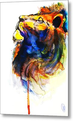 Cat Of A Different Color Metal Print by Howard Barry