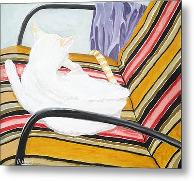 Cat Painting Metal Print