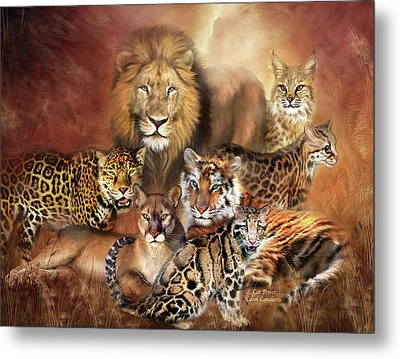 Cat Power Metal Print by Carol Cavalaris