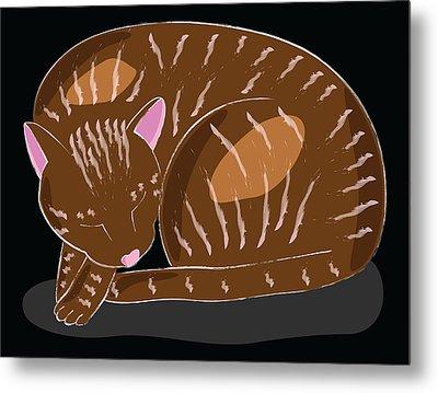 Cat Metal Print by Sara Ponte