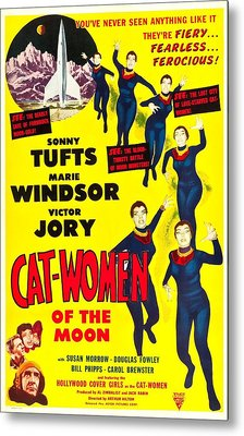 Cat-women Of The Moon, Us Poster, 1953 Metal Print by Everett