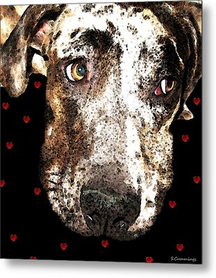 Catahoula Leopard Dog - Lover Metal Print by Sharon Cummings
