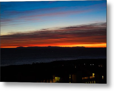 Catalina Island Sunset Metal Print by Penny Lisowski