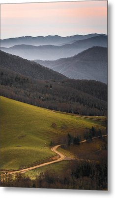 Cataloochee Valley Sunrise Metal Print