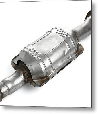 Catalytic Converter Metal Print by Science Photo Library