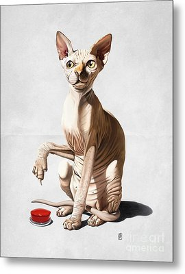 Catastrophe Wordless Metal Print by Rob Snow