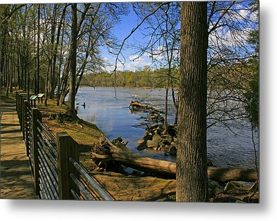 Metal Print featuring the photograph Catawba River Walk by Andy Lawless