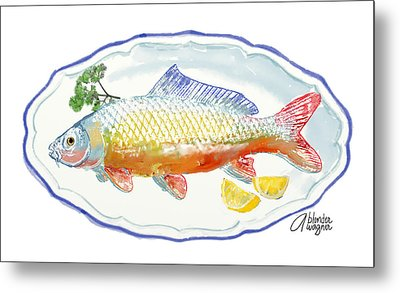 Metal Print featuring the digital art Catch Of The Day by Arline Wagner