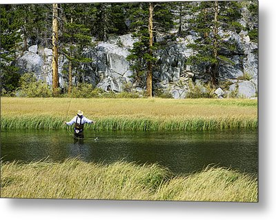 Metal Print featuring the photograph Catch Of The Day - Eastern Sierra California by Ram Vasudev