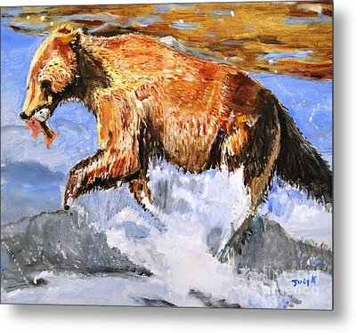 Metal Print featuring the painting Catch Of The Day by Judy Kay