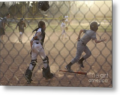 Catcher In Action Metal Print by Chris Thomas