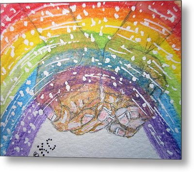 Catching A Rainbbow Metal Print by Kathy Marrs Chandler