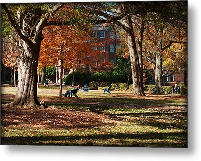 Catching Rays - Davidson College Metal Print by Paulette B Wright