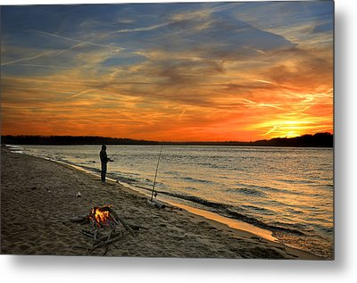 Catching The Sunset Metal Print by Steven  Michael