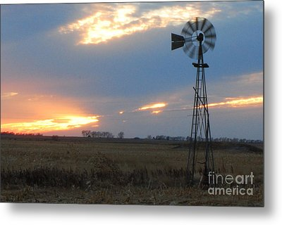 Catching The Wind In South Dakota Metal Print