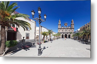 Catedral De Santa Ana At The Plaza De Metal Print by Panoramic Images