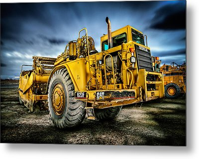 Caterpillar Cat 623f Scraper Metal Print by YoPedro