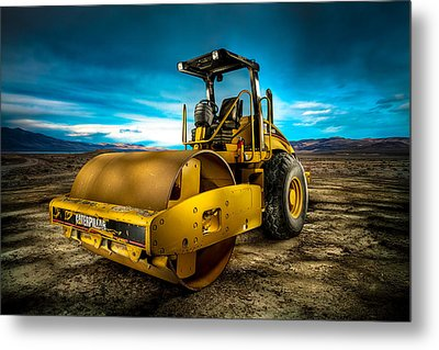 Caterpillar Cat Roller Cs563e Metal Print by YoPedro