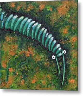Caterpillar Of A Sort Metal Print