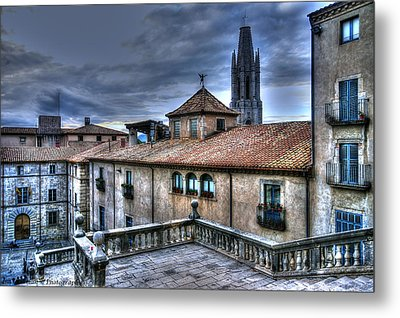 Cathedral Banisters Metal Print by Isaac Silman