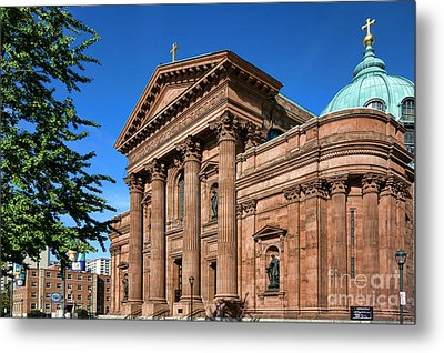 Cathedral Basilica Of Saints Peter And Paul Metal Print by Olivier Le Queinec