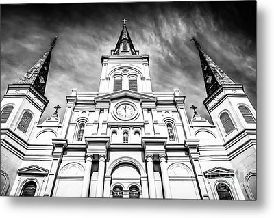 Cathedral-basilica Of St. Louis In New Orleans Metal Print