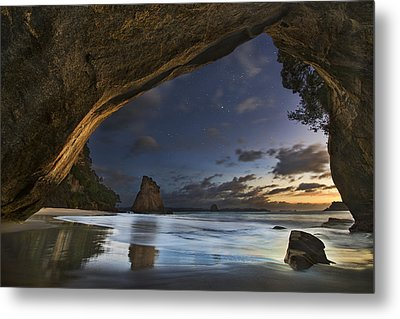 Cathedral Cove Metal Print by Yan Zhang