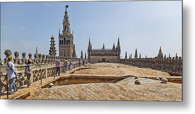 Cathedral In A City, Seville Cathedral Metal Print by Panoramic Images