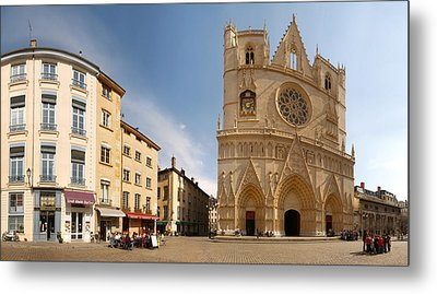 Cathedral In A City, St. Jean Metal Print by Panoramic Images
