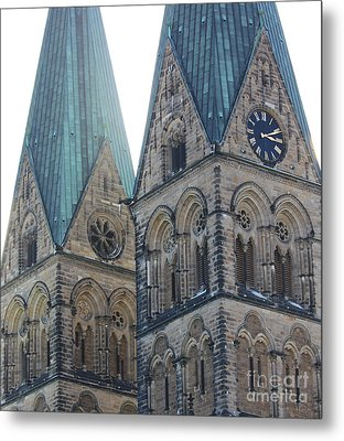 Cathedral In Bremen Metal Print