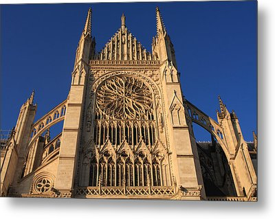 Cathedral In Evening Light Metal Print by Aidan Moran