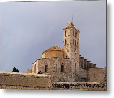 Cathedral In Ibiza Town Metal Print