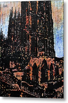 Cathedral In Spring Metal Print by Oscar Penalber