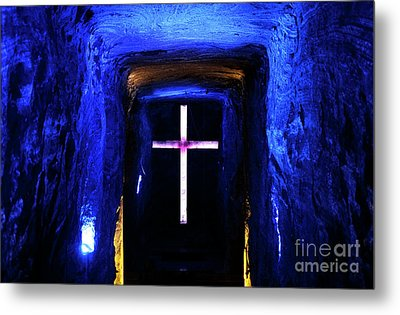 Cathedral In The Salt Mine Metal Print by John Rizzuto