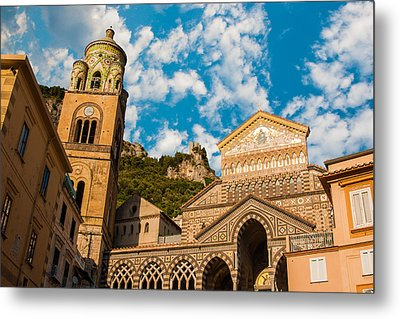 Cathedral Of Amalfi Metal Print by Gurgen Bakhshetsyan