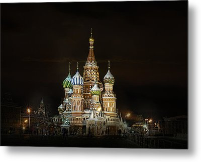 Metal Print featuring the photograph Cathedral Of Basil The Blessed by Gouzel -