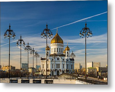 Cathedral Of Christ The Savior 3 - Featured 3 Metal Print by Alexander Senin