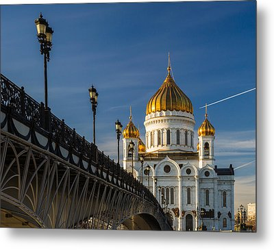 Cathedral Of Christ The Savior In Moscow - Featured 3 Metal Print by Alexander Senin