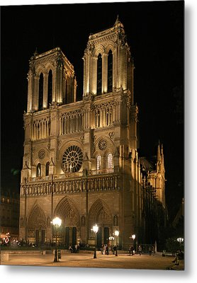Cathedral Of Notre Dam Metal Print by Gary Lobdell
