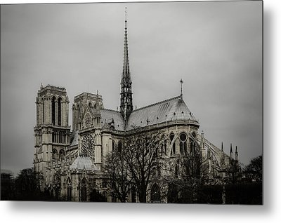 Cathedral Of Notre Dame De Paris Metal Print by Marco Oliveira