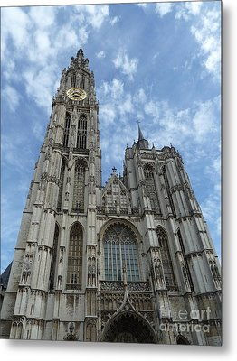 Cathedral Of Our Lady Antwerp Belgium Metal Print